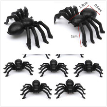 50Pcs Plastic Black Spider Halloween Decoration Festival Supplies Funning Toys Decoration Realistic Prop