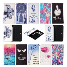 Top Selling Dirt-resistant Painting Leather Case Magentic Flip cell phone Accessories case cover For Asus ZenFone2 ZE551ML(China)