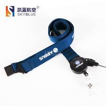 New Airbus Blue Lanyard  for Pliot Flight Crew 's License ID Card Holder Boarding Pass String Sling with Buckle Personality Gift