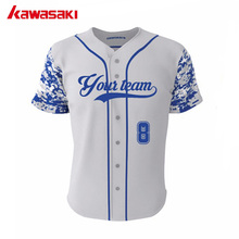 Cheap Custom Camouflage Baseball Jerseys Pinstripe Baseball Shirt 100% polyester Dry fit Collage Training Jersey Free Shipping