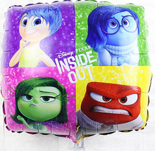 18 inch Square Inside Out  Foil Balloon Party Decorated Balloons
