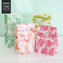 4PCS Original creative natural series flat gift bag packaging bag Wedding Birthday party paper gift bag