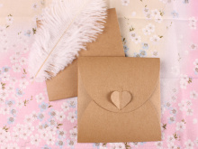 130*130mm Vintage Heart Kraft Paper CD Optical disc Paper Bag/DVD Bag/DIY Multifunction Green Card bag/envelope 100pcs/llot