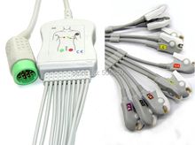 Compatible MEDTRONIC PHYSIO CONTROL Lifepak 12 EKG cable 10 lead ecg cable Clip grabber lead on terminal