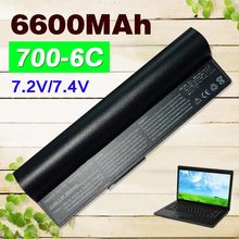 6600mAh black laptop Battery for Asus Eee PC 2G  4G 700 701 8G 900 90-OA001B1000 A22-700 A22-P701 A23-P701 P22-900