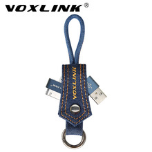 VOXLINK NEW 30 Pin Mobile Phone Cable denim Keychain Data Transfer USB Charge Cable for iphone 4 4s iPad 2 3 Fast Charging Cable(China)