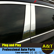 A&T car styling For KIA SportageR Stainless steel middle column decorative strip For 2010-2015 Sportage R window pillar 6 pcs Ca