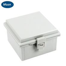 150*150*90mm ABS Waterproof Connection Box Plastic Enclosure with Plastic Draw Latches Hinge used with connectors