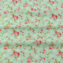 Scrapbooking Bedding Twill Cloth Green Printed Floral Designs Cotton Fabric Tecido Sewing Home Textile Quilting Patchwork CM(China)