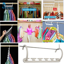 OnnPnnQ 1PCS 3D Space Saving Hanger Magic Clothes Hanger with Hook Closet Organizer Home Tool Racks GG