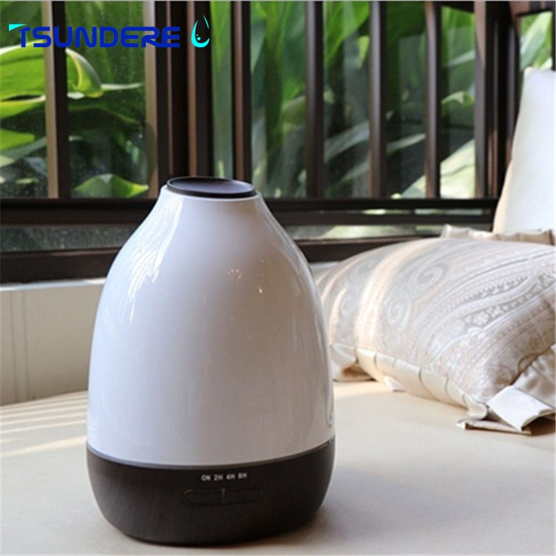 TSUNDERE L Air Humidifier 500ml Essential Oil Diffuser Essential Oil Wood Grain Cool Mist Maker Aromatherapy for Home<br>