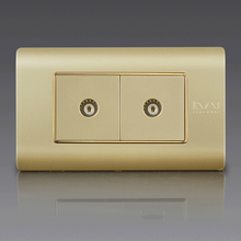 Free Shipping, Kempinski Luxury Double TV Socket, Dual TV Outlet, 118*72mm, C5 series