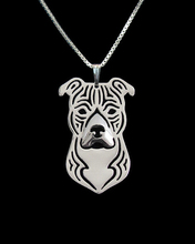 cartoon Boho Chic Alloy American Staffordshire Terrier necklace fashion pit bull pendant Silver/gold two colors plated