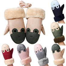 2017 Winter Warme Baby Handschuhe full finger Children Girls Boys Twist Gloves Warm Full Finger Gloves(China)