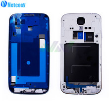 Netcosy Full Housing Set Middle Mid Frame Bezel A Board For Samsung S4 i9500 Replacement Parts Repair Spare High Quality(China)