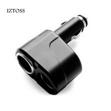 IZTOSS Car Accessories 2 Way DC 12V Car Charger Cigarette Lighter Double Power Adapter Splitter Socket