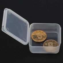 Mini Plastic Jewelery Storage Box Transparent Desk Parts Storage Box Portable Pills & Coins Storage Box EZLIFE MS515