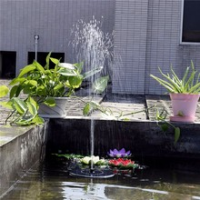 Hot Sale 7V Floating Water Pump Solar Panel Garden Plants Water Power Fountain Pool with tracking number