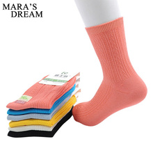 6pairs=12/lot Spring autumn bamboo fiber brand women socks for woman business casual black socks female beige short socks(China)