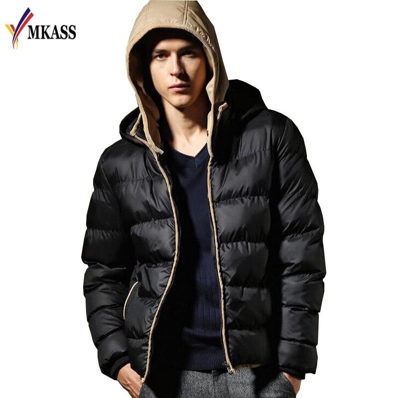 New Brand Winter Jacket Men Parkas bomber jacket Hooded Coats Patchwork Padded Jacket Male Parka Men cotton-padded clothesÎäåæäà è àêñåññóàðû<br><br>