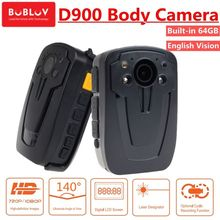 Free shipping!64GB Police Cam DVR Hands Free Police Body Security Worn Camera D900 HD 1080P(China)