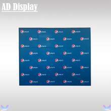 10ft Trade Show Booth Straight Stretch Fabric Banner Pop Up Wall Display Stand With Single Side Graphic Printing(No End Cap)