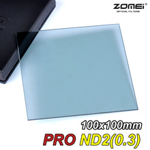 Zomei 100mm Square Filter ND2 Optical Glass 100x100mm Neutral Density Grey ND Filter for Cokin Z-PRO Series Lee Hitech Singh-Ray