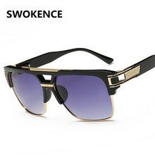 SWOKENCE Estrelas Estilo óculos de Sol Das Mulheres Dos Homens Designer de  Marca Famosa de Luxo Tamanho Grande Metade Quadro ócu. 60bb6ecc9d