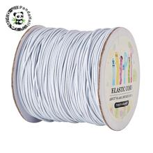 Round Elastic Cord, with Nylon Outside and Rubber Inside, White, 1mm; 100m/roll(China)