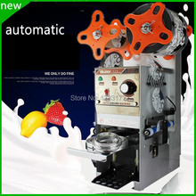 free ship Automatic Cup sealing machine,Bubble tea cup sealer,Boba coffee milk ,plastic cup sealer,boba cup sealer(China)