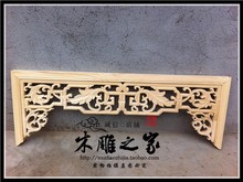 Dongyang wood carving wood antique Chinese dragon carved customized hanging background wall decoration beam entrance pass(China)
