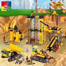 Engineering Architecture Education Model Urban Engineering Vehicles Building Blocks Children Toys Compatible with Legoe(China)