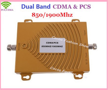 New Dual band 3G CDMA GSM PCS 850Mhz 1900MHz Mobile Cell Phone Signal Amplifier Booster Repeater , 2G GSM 3G PCS celular booster(China)