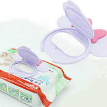NEW Sensitive Baby Wipes Lid Wet Wipes LARGE BOX Portable child kids wet tissues Lid Cartoon Infant child Useful accessories 1pc(China)