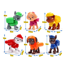6PCS/LOT for Dog Toys Juguetes Kids Toys Canine Puppy Dogs Pet Puppy American Movie Figure Everest/Ryder/Skye Toys