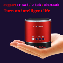 High Quality Box Of Sound Blue tooth Home Theatre,Metal Subwoofer Vibration MINI Wireless Speaker,TF US B Portable Speak er