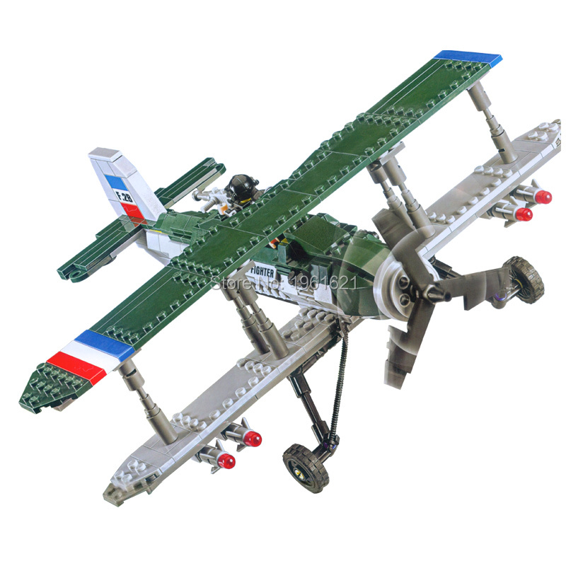 New Century Military Bristol F2B Fighter Plane Moel Building Block Toy British Royal Air Force Educational Toy For Kids Gifts<br><br>Aliexpress