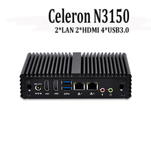 X86 Mini PC Celeron n3150 Low Power Fanless Desktop Computer Windows 10 Linux firewall, Pc Router industrial Mini Computer