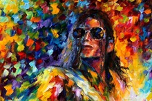 Wall painting Free delivery Michael Jackson abstract oil painting tableau 40X60 60x90cm