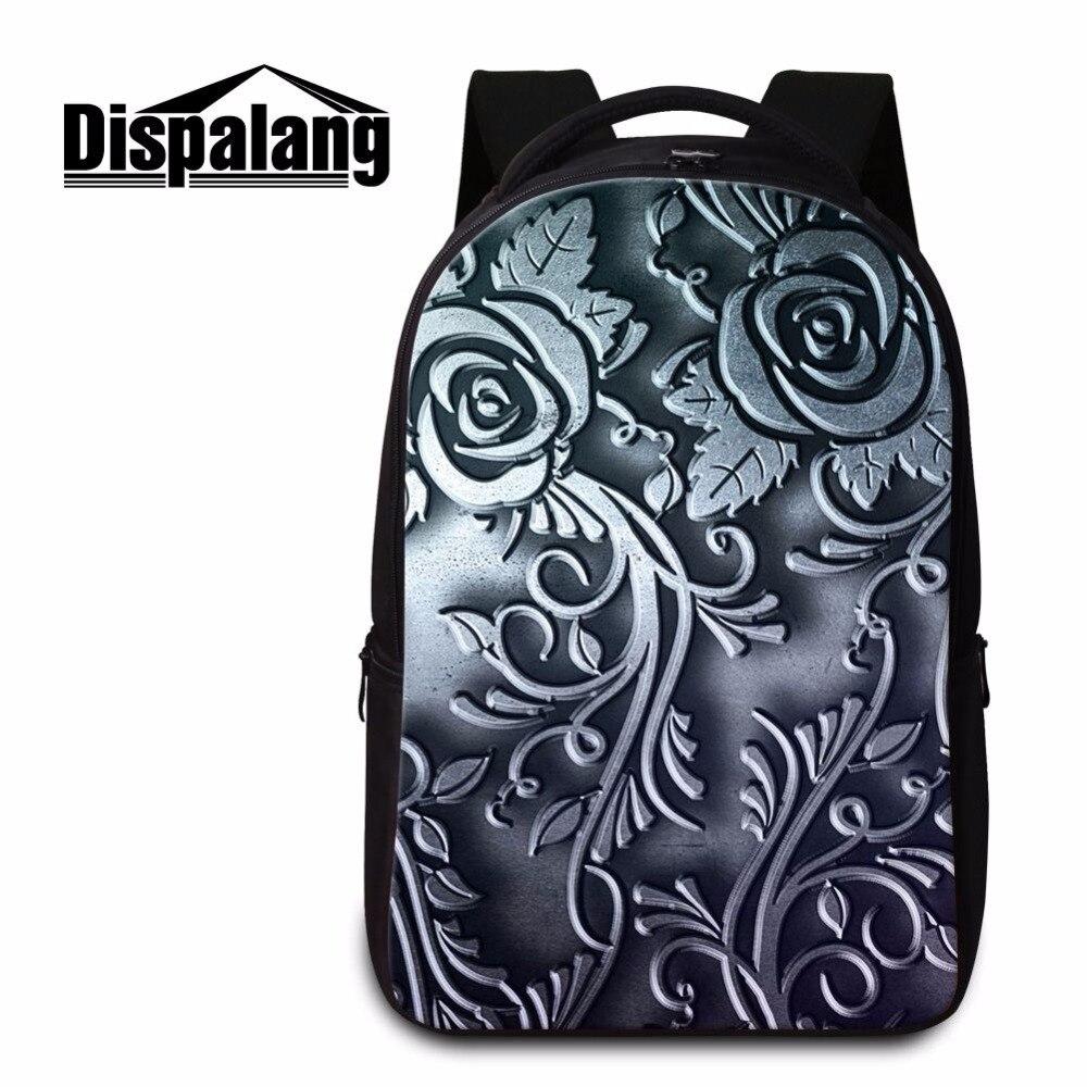 Dispalang practical backpacks for boys metal striped print portable laptop back pack student schoolbag women shoulder bookbags<br>
