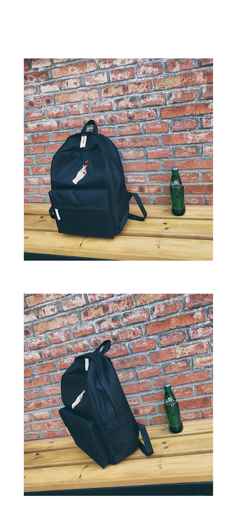 Men Canvas Backpack Cute Fashion Women Rose Embroidery Backpacks for Teenagers Women's Travel Bags Mochilas Rucksack School Bags (35)