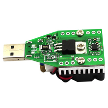 JFBL Hot Mini USB 0.15A-3A Electronic Load Tester Module Adjustable Constant Current for 3.7V~13V 15W Continuous Discharge Int(China)