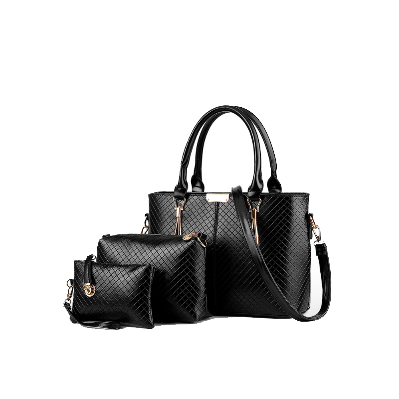 Homeda 2017 New Luxury Women Bag 3 Pieces Set Bear Fashion Womens Handbags PU Leather Composite Bags Ladies Female<br>