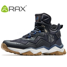 RAX Mens Waterproof Hiking Shoes Outdoor Waterproof Trekking Shoes Winter Breathable Hiking Boots Leather Sports Sneakers Men(China)