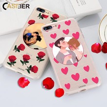 CASEIER Phone Case For iPhone X 7 6 6s Plus Soft TPU Accessories For iPhone X 5s 5 4s 6s 7 8 Cases Customized Design Photo Cover(China)