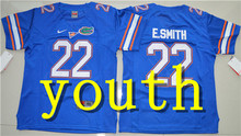 Nike 2017 Youth Florida Gators E.Smith 22 College Ice Hockey Jersey - Royal Blue Size S,M,L,XL Tim Tebow 15(China)