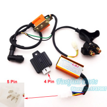 5 pin AC CDI & Racing Ignition Coil & Regulator Rectifier & Solenoid Relay For 50cc 110cc ATV Quad Mini Dirt Pit Pocket Bike
