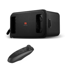 Original Xiaomi VR Virtual Reality 3D Glasses Google Cardboard 3D Mi Box with Remote Controller for iPhone 7 Plus S8 Plus