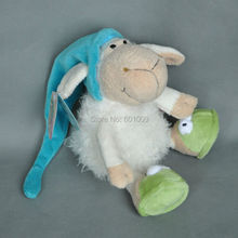Free Shipping Sleeping Cap Sheep Plush Toy for Cute Baby/ Kids Gift 8.5""