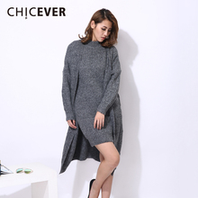 Buy CHICEVER Autumn Winter Costumes Women Two Piece Set Knitted Cardigan Sweater Coat Sleeveless Pullovers Dress Clothes for $49.20 in AliExpress store